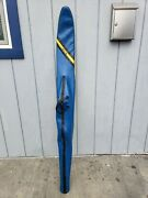 Vintage Connelly Hook 65andrdquo Inlay Wood Wooden Water Ski With Bag Rare One Owner