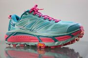Hoka One One Mafate Speed 2 Trail Running Shoes Teal Pink Womenand039s Size 7
