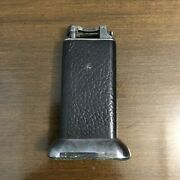 Rare Antique Dunhill Lighter Black Leather Wrapped Table Top 4 Circa 1930and039s