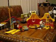 1970's Weeble Circus And Weeble Mickey Mouse Club Lots Of Accessories And Weebles