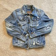 Vintage Abercrombie And Fitch Denim Jacket Womens Medium Adult Blue Coat Casual