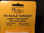 Micro- Engineering 14-714 Ho Ladder Track System Turnout Lh 5c Code 83