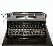 Mint Vintage 1935 L.c. Smith And Corona Silent Mechanical Typewriter Polished Blk