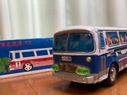 Ichiko Tin Oba Tomei Express Bus Blue Big Size With Used Box Out Of Print