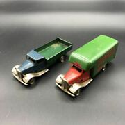 Things At The Time Tri-ang Minictoys Set Of Super Rare Tinplate