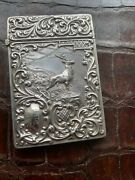 Antique Victorian Engraved Silver Calling Card Case 1896 Crisford Norris