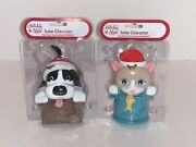 Christmas Solar Dancers Puppy And Kitten Lot Of 2 Dancing Bobble Head Figures
