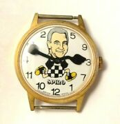 Rare Spiro T Agnew Character Hand Wind Political Time Watch Works Wristwatch