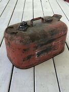 Vintage 6 Gallon Gas Tank Johnson Outboard Fuel Can Boat Tank Red Distressed