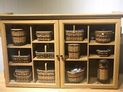 Longaberger Jw Miniature Basket Collection And Display Cabinet