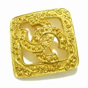 Brooch Metal Material Gold Coco Mark Secondhand _32715