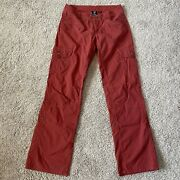 """Kuhl Hiking Pants Size 6 Womens Red 31"""" Inseam"""