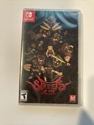 Streets Of Red Physical Game Nintendo Switch - Brand New Limted Run Games Sealed