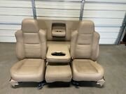 1999-2010 Ford F250 F350 F450 Super Duty Front And Rear Seats Tan Leather