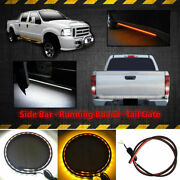 2x White/amber 60 120-smd Led Ambient Lighting Strips Running Board/step Lights