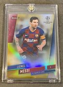 2019-20 Topps Finest Champions League Lionel Messi Gold Refractor Jersey 30/50