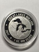 2017 Great Lakes Bullion Landscape - 1 Troy Oz .999 Silver- Only 2000 Minted