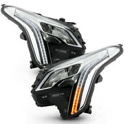 [full Led] Projector Strip Drl Headlight Front Lamp Pair For 18-19 Cadillac Xts