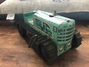 Vintage Marx Toys Tin Litho Climbing Tractor 5 Green Wind-up