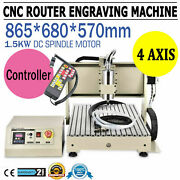 3axis 6040 Cnc Router 1.5kw Engraver Milliing Machine Pcb Drilling+controller Rc