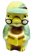 Robinson Ransbottom Pottery Rrp Company - Vintage Wise Owl Cookie Jar. 369