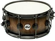 Dw Collectorand039s Series Exotic Snare Drum - 6.5 X 14 Quick Candy Black Burst