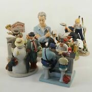 Collection Of 8 Danbury Mint Norman Rockwell Figurines - Free Shipping Usa