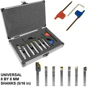 Metal Lathe Tools Bits Indexable Lathe Turning Tool Set For Grooving Threading