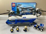 Lego 4439 City Heavy-duty Helicopter Police Complete W/ Manual And Minifigures