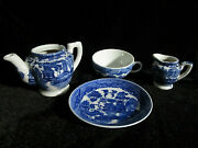 Vintage Toy Tea Set Dishes Blue Willow Japan 1950 Replacement Pieces