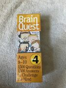 Brain Quest Grade 4 Revised 3rd Edition 1500 Qanda To Challenge The Mind New 9-10