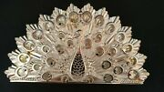 Vintage Silver Plated Napkin Holder - Peacock Design - Made In Italy