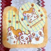 New Totoko Hamtaro Western-style Toilet Set Foot Mat And Lid Cover 2 Points Rare