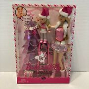 2008 Mattel Pink Holiday Barbie And Kelly P9341 Nrfb Play Collector Set