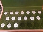 Danbury Mint History Of The Us.16 Sterling Silver Medals 37-38 Grams Each, Rare