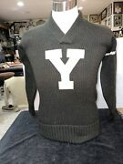 Antique 1910-1920's Yale University Football Game Sweater Really Rare