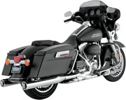 Vance And Hines Monster Round Slip-onschrome With Chrome Tips 16773