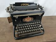 Collectible Typewriter Early Ideal B 400 From 1912 - No Risk With Shipping
