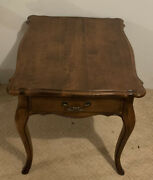 Ethan Allen Country French Lamp End Table