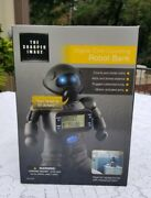 Sharper Image Digital Coin Counting Robot Bank New In Box Gf-d100 Black