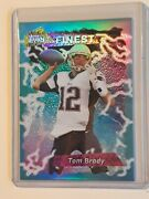 2015 Topps Finest Tom Brady 1995 Retro Blue Refractor Rare Pats And Bucs-the Goat