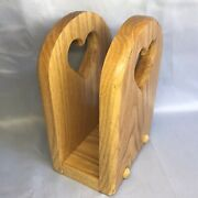 Ferrelland039s Woodcrafts Wooden Napkin Holder Heart Shaped Cut Outs Jarvis Ontario