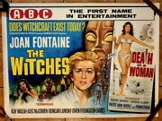 The Witches And Death Is A Woman 1967 Original Abc Uk Quad Poster .