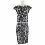 14 Resorts Runway Wear Lace Dress Women And039s Black White 36 Coco Mar _34808