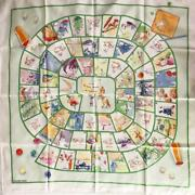 Hermes Carres 90 Scarf Happy Mass Game Dumas Large Size _36360