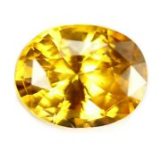 Certified 2.22ct Natural Ceylon Golden Yellow Sapphire Vs Clarity Oval 8.7x6.8mm