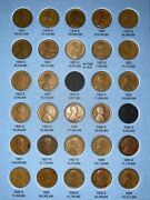 1909-1940 Lincoln Wheat Cent 28 Coin Collection Set Page2 1919-1930 22d 23s 24s