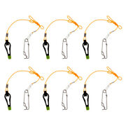 6pcs Outrigger Power Grip Snap Weight Release Clip For Offshore Sea Fishing