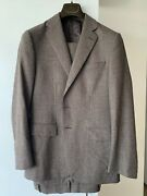 Caruso Mens Brown Glen Check Suit 38us/48eu 3-roll-2 Button Brand Tags The Best