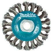Makita 1 Piece - 4 Inch Knotted Twist Wire Wheel Brush For Grinders - Heavy-duty